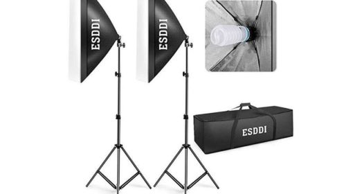 kit studio photo ESDDI avec supports d'éclairage 800W