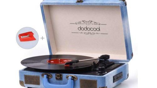 la platine disque vinyle Bluetooth dodocool , convertisseur MP3 avec hautparleur