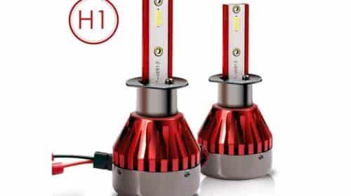 lot de 2 ampoules de phare H1 à LED (48W – 7600lm) Topvork