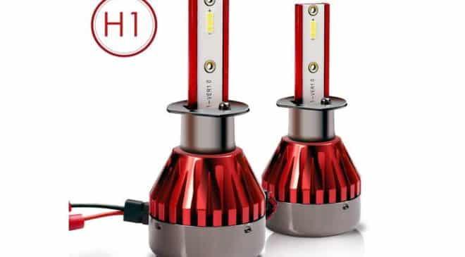 lot de 2 ampoules de phare H1 à LED (48W – 7600lm) Topvork