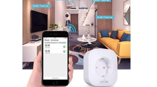 prise connectée Wi-Fi avec prise USB Tomshine compatible Amazon Alexa, Google Home