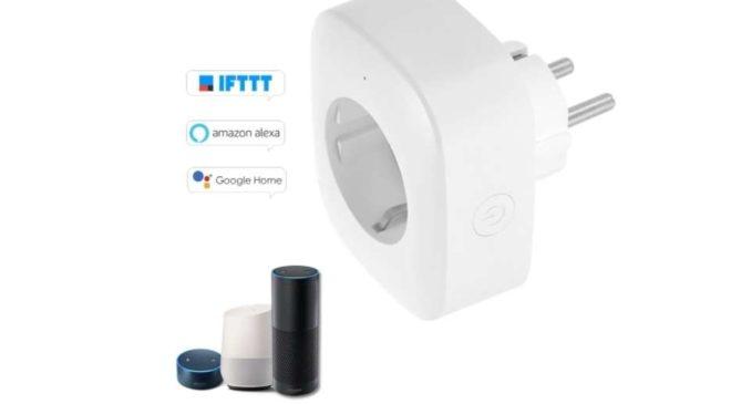 prise connectée Wi-Fi compatible assistant vocaux TOMTOP
