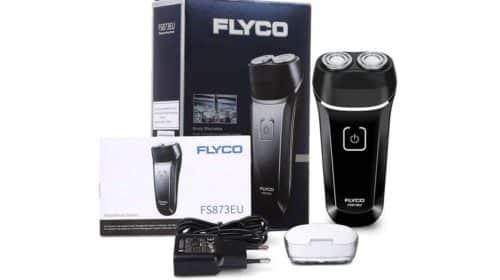 rasoir électrique Flyco rechargeable étanche avec deux têtes pivotantes pas cher