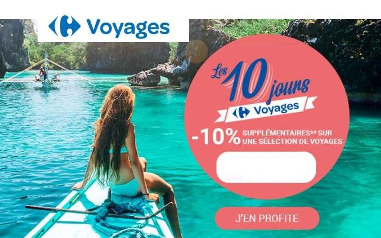 remise supplémentaire sur toutes les offres voyages Made by Carrefour Voyages