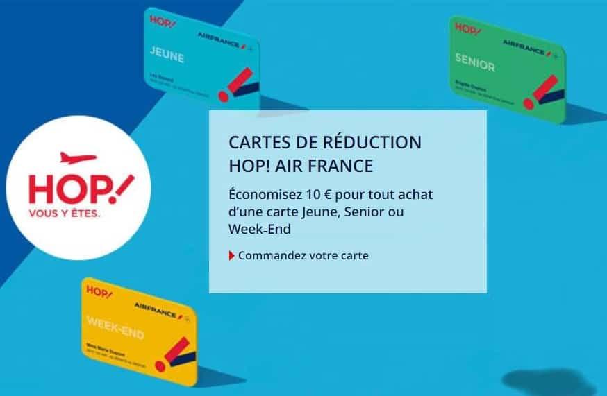 code promo carte jeune hop Remise de 10€ sur les cartes HOP ! Air France (Jeune, Senior ou