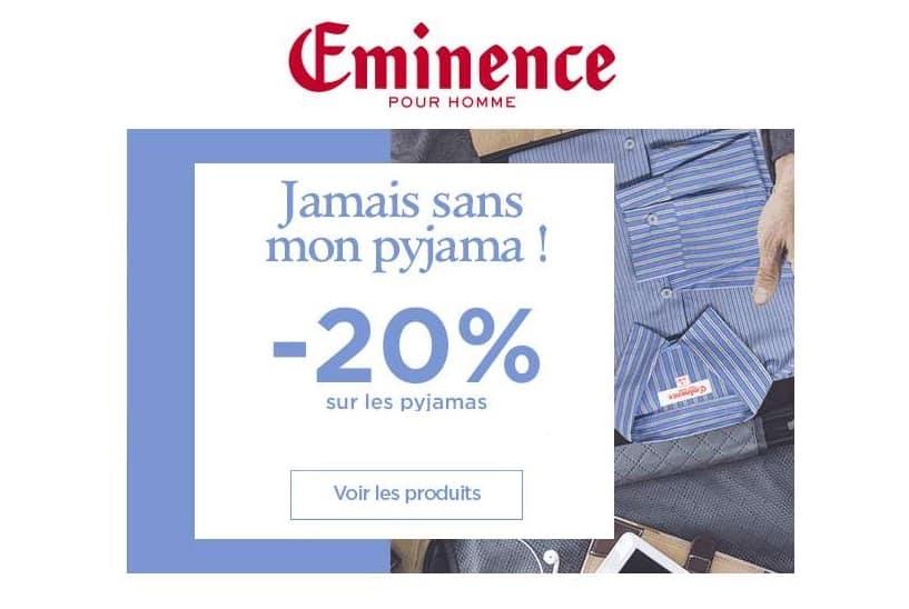 remise sur tous les pyjamas Eminence