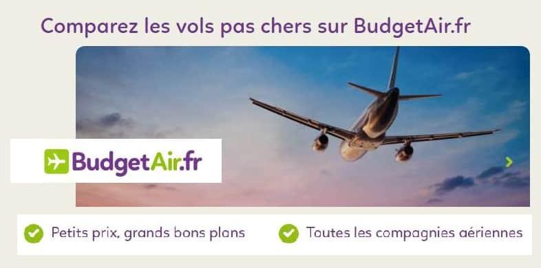 remises sur les billets d'avion réservés sur BudgetAir