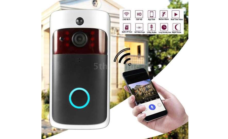 28 99 Le Visiophone Wifi Connecté Smartphone Grand Angle Vision Nocturne Port Sd