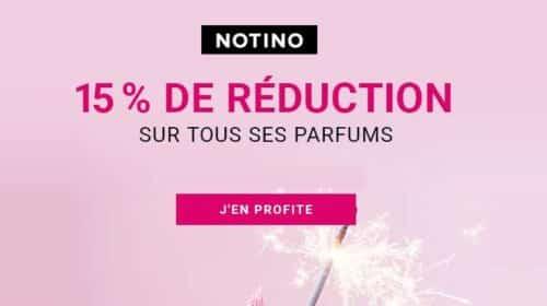 15% de remise sur tous les parfums vendus sur la parfumerie Notino