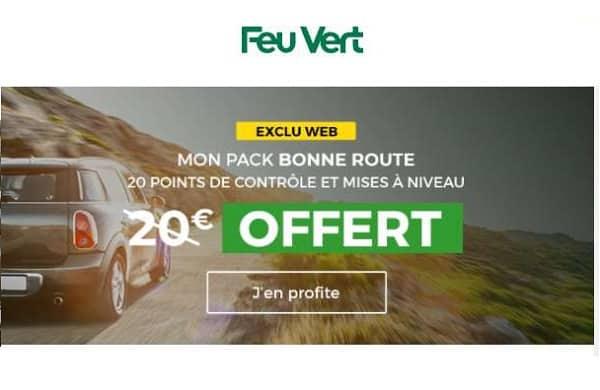 20 points de contrôles de votre véhicule vérifiés gratuitement par feu vert