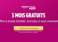3 mois gratuit à Amazon Music  (streaming musicale illimité) sans engagement