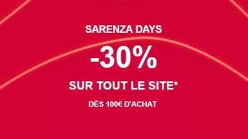 30% de remise immédiate sur Sarenza