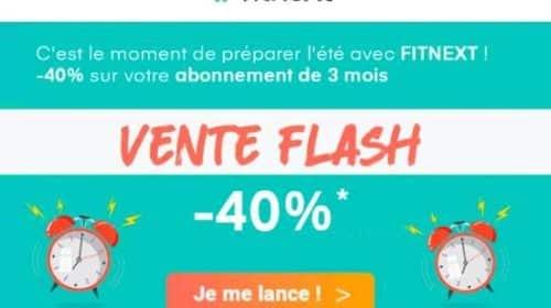 40% de remise sur l'abonnement Fitnext 3 mois