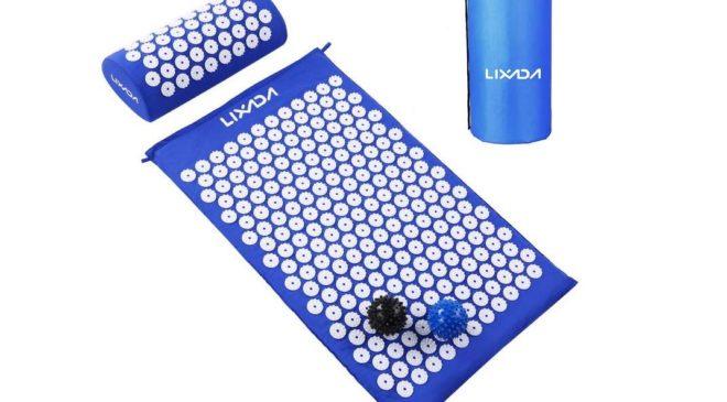 Kit acupression Lixada tapis et coussins de massage + 2 boules avec piques