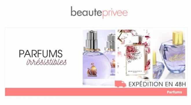 Vente privée parfums moins chers sur Beauté Privée
