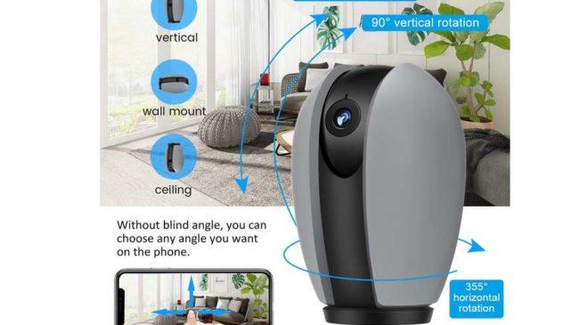 caméra de surveillance Wi-fi rotative Meco Eleverde