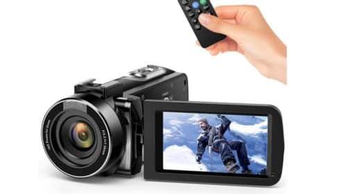 camescope Full HD 1080p 30fps infrarouge Andoer (zoom X16 écran 3 pouces et télécommande)