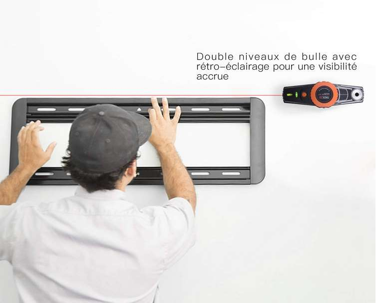 niveau à bulle avec faisceau laser 9 mètres Tacklife MI01