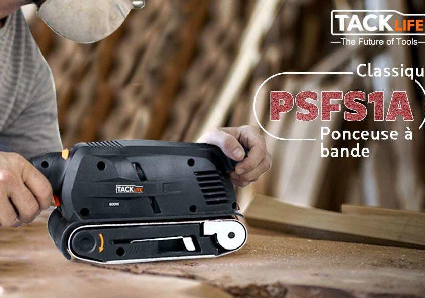 ponceuse à bande Tacklife PSFS1A (6 vitesses, 600W) + 13 bandes abrasives