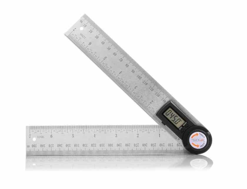 rapporteur numérique métallique (et regle 40cm) Tacklife MDA01