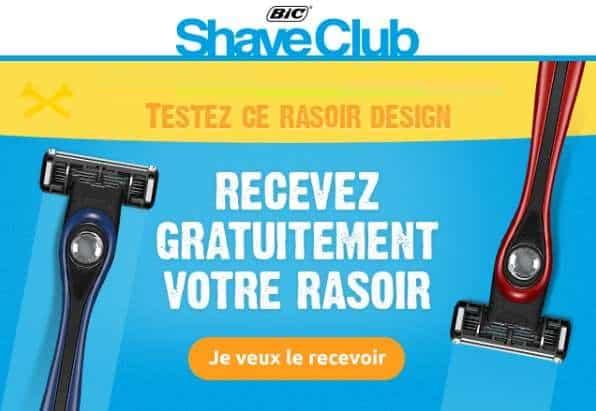 recevez un rasoir BIC gratuitement (Bic Shave)
