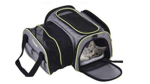 sac de transport chat et chien extensible et pliable Dadypet