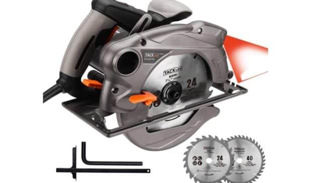 scie circulaire avec faisceau laser Tacklife PES01A