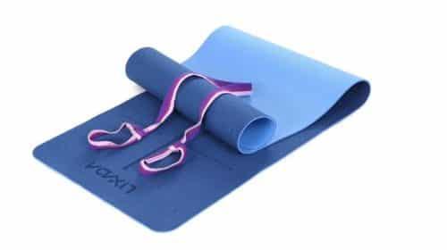 tapis de yoga et fitness double couche bandoulière Lixada