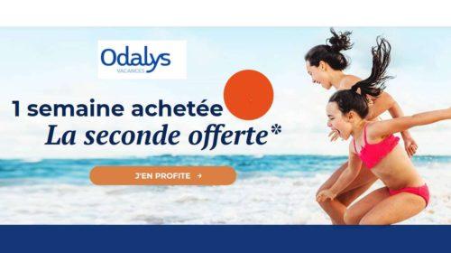 1 semaine achetée 1 semaine offerte avec Odalys Vacances