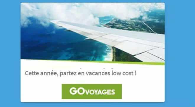 10€ de réduction sur l'achat de billet d'avion sur Go Voyages