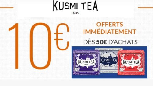 10€ de réduction sur le site Kusmi Tea