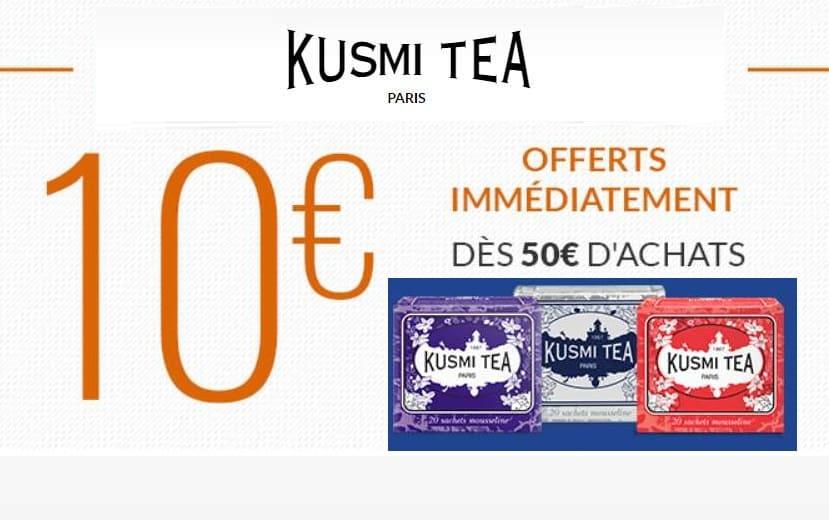 10€ de réduction sur le site Kusmi Tea