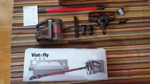 aspirateur balai sans fil et sans sac 2 en 1 Vistefly V8