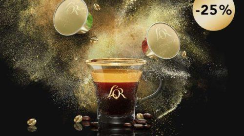 25% de remise sur tous les cafés L'OR