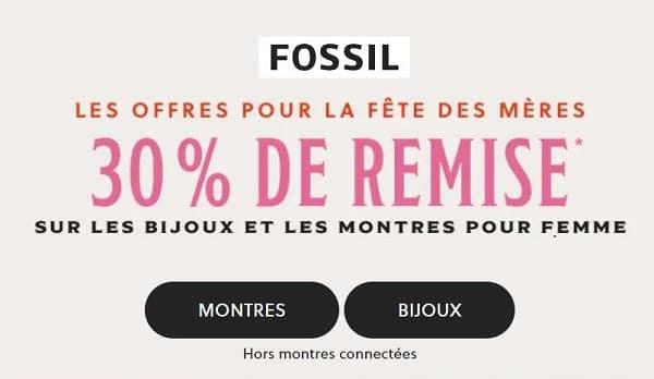 30% De Remise Sur Les Les Bijoux Et Les Montres Femme Fossil