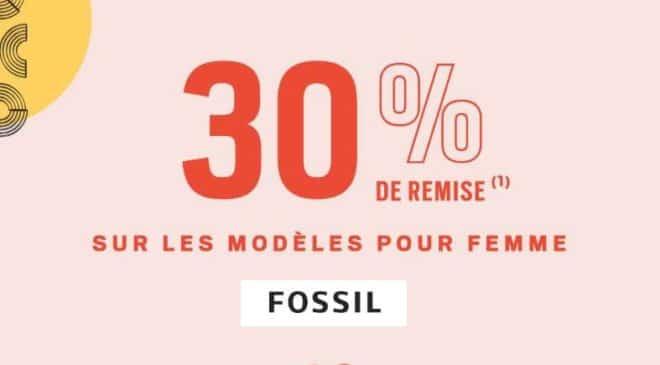 30% de remise sur les modèles femme FOSSIL
