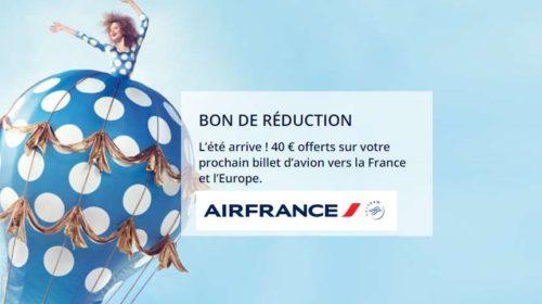 40€ de remise sur un billet d'avion Air France