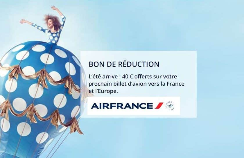 40€ de remise sur un billet d'avion Air France