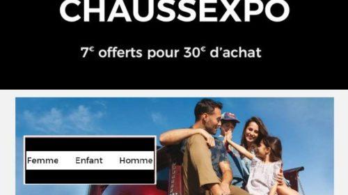 7€ de réduction sur ChaussExpo