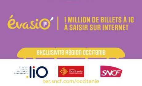 Billet de train TER région Occitanie à 1€ seulement