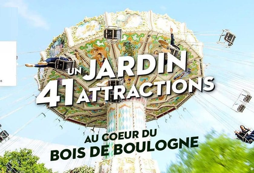 Billet parc attraction Jardin d'Acclimatation pas cher