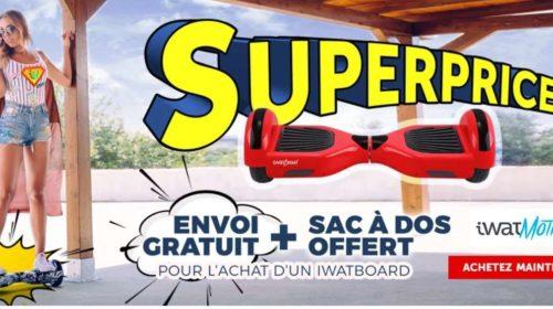 Bon plan achat hoverboard sac à dos et livraison gratuite sur tous les Iwatboard