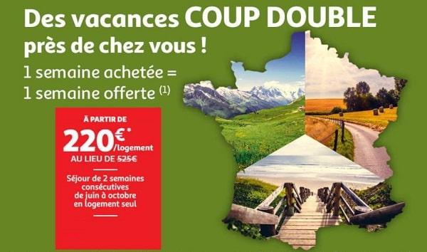 Bon Plan Vacances Auchan Voyages 1 Semaine Achetée = 1 Semaine Offerte