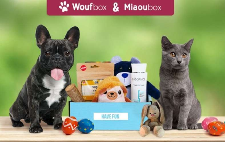 Coffret cadeau pour animal moitié prix Wouf box ou Miaou box