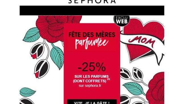 Fête des mères Sephora remise parfums et coffrets parfums