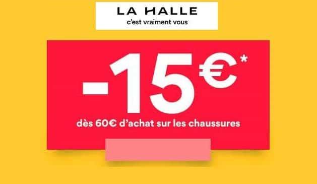 LA HALLE 15€ de remise sur les chaussures