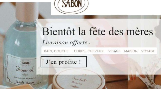 Livraison gratuite sans minimum sur la boutique en ligne Sabon