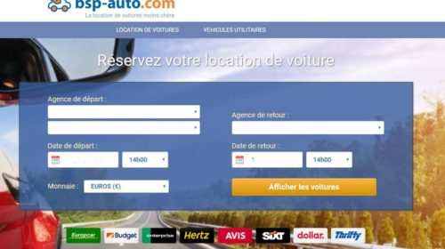 Location auto moins chère avec le comparateur BSP Auto