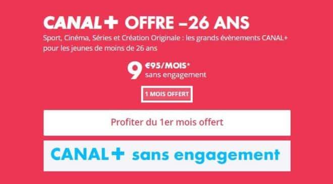 Offre Canal+ pour les moins 26 ans