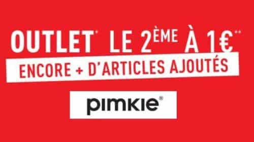 Offre Outlet Pimkie le second pour 1€